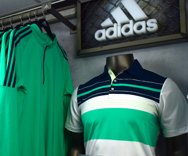image of adidas products in pro shop